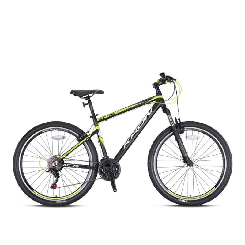Ποδήλατο KRON XC 75 27,5 21SP H DISC MATT BLACK-NEON YELLOW/WHITE