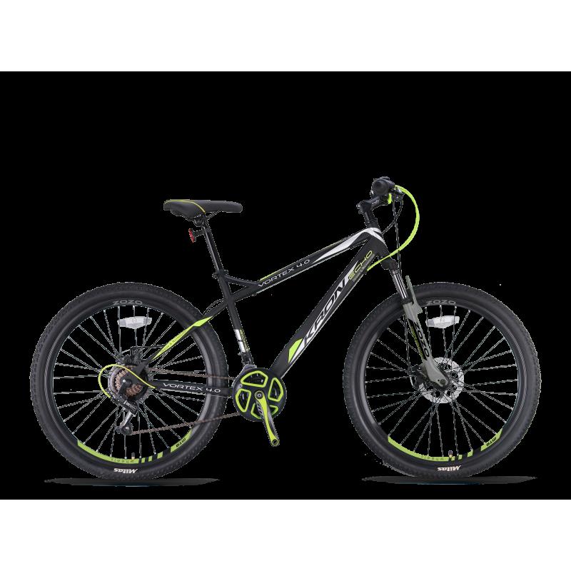 Ποδήλατο KRON VORTEX 4 0 27,5 21S M DISC BLACK-NEON YELLOW